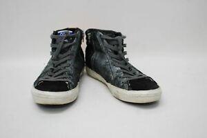 GOLDEN GOOSE Ladies Black Dark Grey Suede Leather Hi Top Shoes Approx. UK7