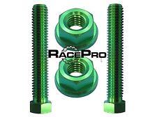 Verde pernos de ajuste Titanio Para Cadena Eje - KAWASAKI ZX6R p7-p8 Ninja 07-08