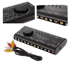 4 in 1 out Audio Video Signal Switcher Splitter Selector AV RCA Switch Box Black