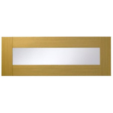 OAK STYLE SHAKER KITCHEN  1000X356mm GLAZED HALF HEIGHT DOORS 1X PAIR  PACK ZA