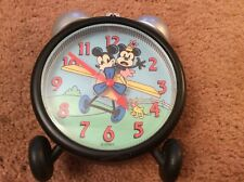 USE Disney Plane Crazy Vintage Mickey Mouse Design Alarm Clock Moving Propeller