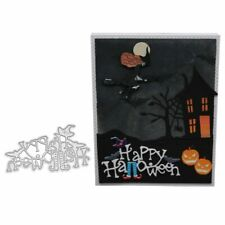 Happy Halloween Metal DIY Dies Cutting Stencil Scrapbooking Embossing Paper Card