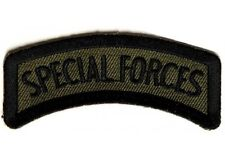 "(A6) SPECIAL FORCES 3"" x 1.5"" Rocker iron on patch (2208) Military Biker"