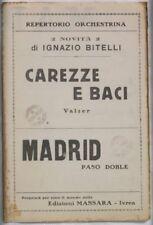 1933 IGNAZIO BITELLI CAREZZE E BACI MADRID SPARTITI