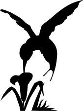 "Hummingbird & Flower Decal 3.75""x5"" choose color!    vinyl sticker - #385"