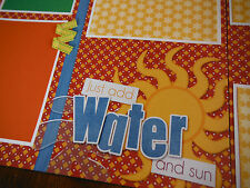 Just Add Water and Sun Pool Two 12x12 Premade Scrapbook Pages 4  Summer