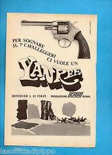 ALTOP970-PUBBLICITA'/ADVERTISING-1970- ERR ROMA - YANKEE REVOLVER 12 COLPI