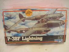 NIB OLD P-38F LIGHTNING WORLD WAR II MILITARY AIRPLANE LONG RANGE FIGHTER MODEL