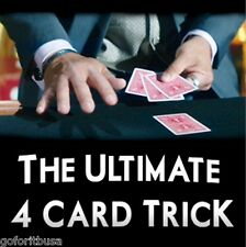 ULTIMATE 4 CARD TRICK If you do any card magic be sure you learn this one!