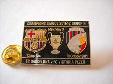 a1 VIKTORIA PLZEN - BARCELONA cup uefa champions league 2012 football pins