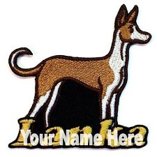 Ibizan Hound Dog Custom Iron-on Patch With Name Personalized Free