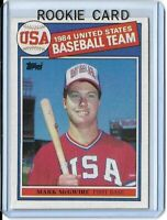 Mark McGwire Topps 1985 RC USA 1984 Baseball Team Rookie Card #401 Oakland A's