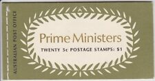 1969 $1 Booklet of 5c Prime Ministers B132A (UNLISTED VARIATION)