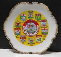 CANADA Coats of Arms and Emblems Souvenir Plate Ontario, Quebec, Manitoba++