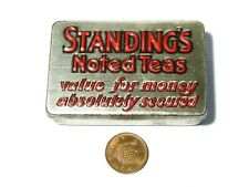 More details for c1930's standing's noted teas sample size advertising tin with match striker #2