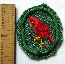 Vintage Oval 1948-55 Girl Scout CARDINAL TROOP CREST Red Bird Avian Badge Patch