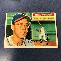 1956 Topps #170 BILL VIRDON St Louis Cardinals Gray Back VG *FB09A
