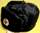 Russian Navy/Subs/Marines Winter Hat+Insignia/NEW/Black/BIG SIZE/FREE SHIP IN US