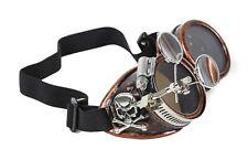 Steampunk Victorian Skull Cross Welding Copper Goggles Scissors Lens Cosplay