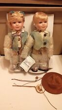 Duck House Limited Edition Wyatt & Wendy Porcelain Doll Country Boy & Girl New