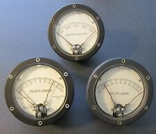 Three VINTAGE AIRPLANE GAUGES by ASSEMBLY PRODUCTS INC, CHESTERLAND, OHIO ~Nice!