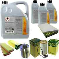 Inspektionspaket 8L Mercedes Öl 229.51 5W30 + MANN Filterpaket 11105092