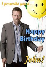 Dr. House Md Hugh Laurie ponerse bien felicitación Personalizada Feliz Cumpleaños Tarjeta De Arte