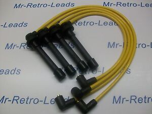 YELLOW 8MM PERFORMANCE IGNITION LEADS FOR THE CIVIC 2.0i 1.8i 1.6i 1.5i 1.4i 16V
