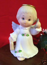 Enesco Ruth Morehead Holly Babes 1998 Angel with Cell Phone & Briefcase Figurine