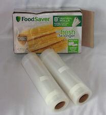 "Food Saver 8"" Heat-Seal Rolls Opened Box Of 2 Rolls"