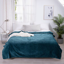 High Quality Warm Soft Throw Flannel Bedding Room Queen Blanket Sofa Bed Wrap