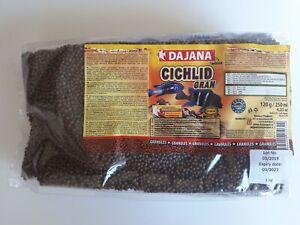 1kg Dajana Cichlid Gran floating pellets/granules - 40% protein  BBE 3/2022 BULK