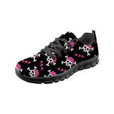 Fashion Skull Running Shoes Trainers Women's Girls Shock Absorbing Sneakers