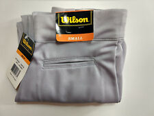 WILSON Mens Adult Baseball Pants Gray w/ Black Logo Syle A4328
