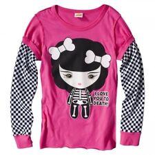 Harajuku Mini 6x Pink Black Wht Checkerboard Long Sleeve Monster Halloween Shirt