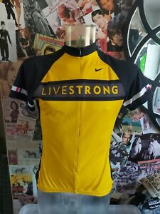Nike Livestrong Lance Armstrong Cycling Yellow Jersey Top Size XL