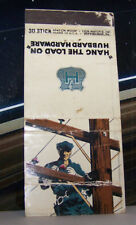Rare Vintage Matchbook Cover Hang The Load On Hubbard Hardware CA Pittsburgh