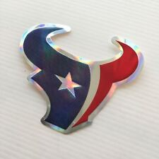 2 of Houston Texans Foil Emboss Decal Sticker NFL Reflective Printed Die Cut