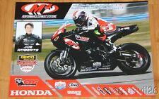 2014 Joe Roberts M4 Road Racing Honda CBR600RR Sportbike AMA poster