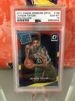 2017-18 Donruss Optic Jayson Tatum PSA 10 GEM MINT Red/Yellow Rookie card