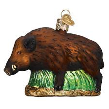 """Wild Boar"" (12500)X Old World Christmas Glass Ornament w/OWC Box"