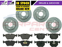 FOR BMW 330 330D 330CI E46 PERFORMANCE DRILLED GROOVED BRAKE DISC PADS