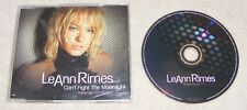 LeAnn Rimes - Can't Fight The Moonlight - UK CD Single - Theme from Coyote Ugly