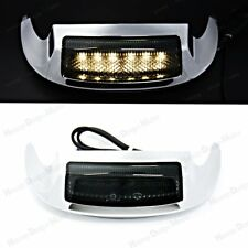 Front LED Fender Tip Light Smoked Lens for Harley Street Glide FLHX FLHXS 14-17