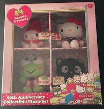 Sanrio Hello Kitty My Melody Chococat Keroppi 50th Anniversary Plush Set