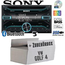 Sony Autoradio für VW Golf 4 IV 2DIN/Bluetooth/CD/USB/iPhone Auto KFZ Einbauset