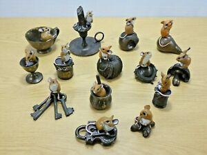 14 x Richard Cooper Studio Mouse inc Candlestick Eggcup Teacup Lock Keys Fruit