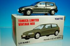 TOMYTEC TOMICA LIMITED VINTAGE NEO LV-N48f Honda CIVIC SiR-II Gray 1/64 New!!