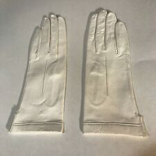 Vi 00006000 ntage Women's White Soft Leather Gloves - Size 7