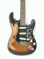 Haze Relic Strat. Electric Guitar,Solid Mahogany Body,SSS,Sunburst+Free Bag. STB